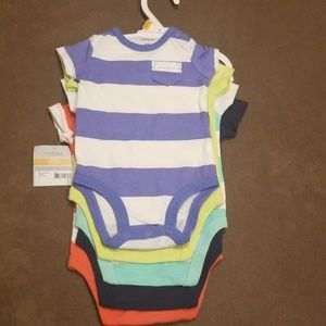 Carter's One Pieces - 5pck onesies- multi color size NB